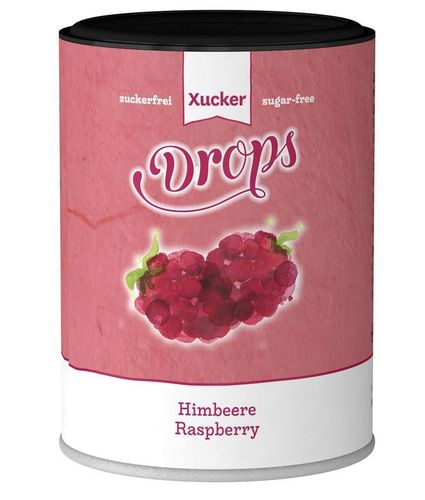 Xylit-Frucht-Drops HIMBEERE 100g